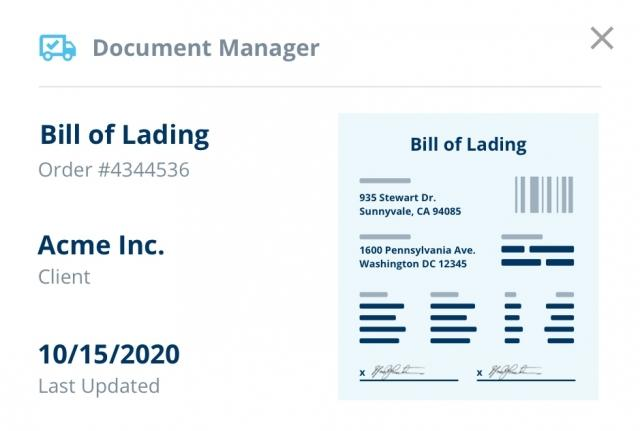 app screenshot of document management