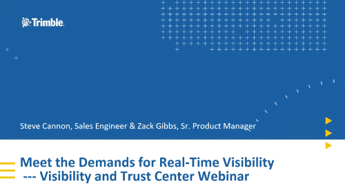 Meet the Demands for Real-Time Visibility